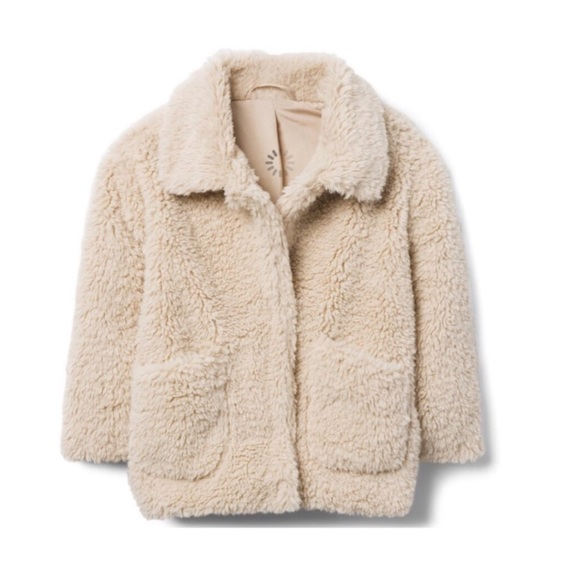 0ff1cf65f HP || 5🌟 Toddler Girls Sherpa Jacket Coat - Cream. Boutique. Edge StyLe  Boutique